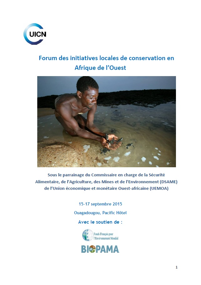 Couv Forum initiatives locales UICN_Rapport final