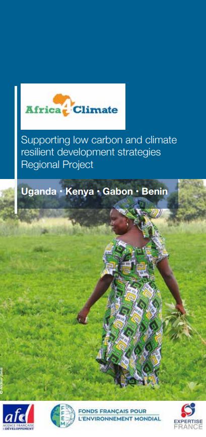 Cover of the presentation brochure Africa4Climate