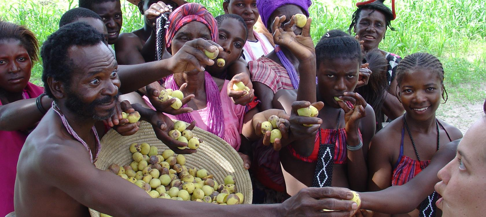 group offering basket marula