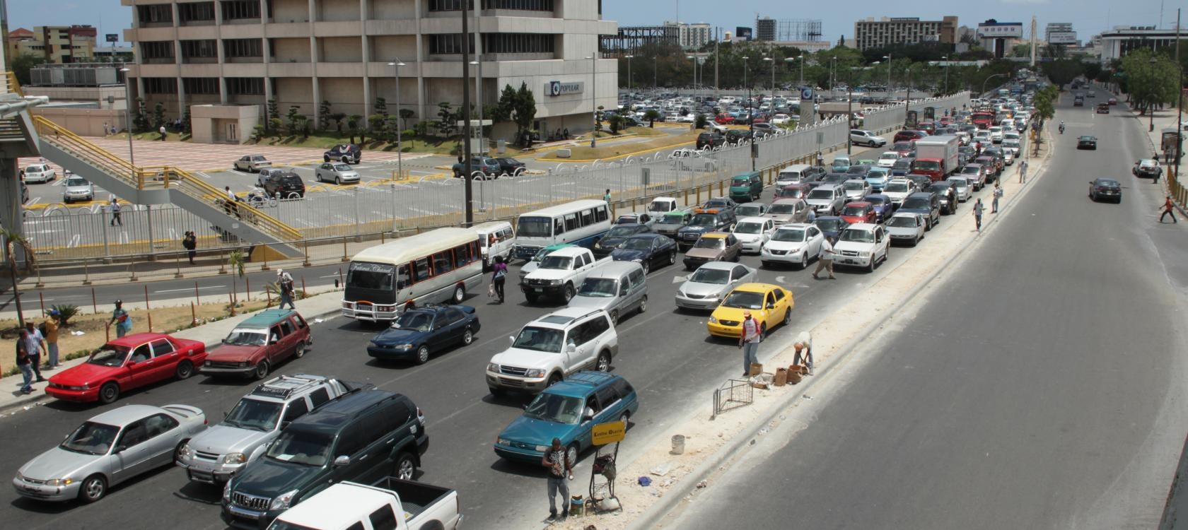 Traffic congestion in Dominican Republic